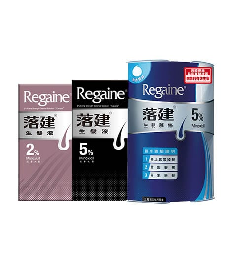 side regaine hair loss products
